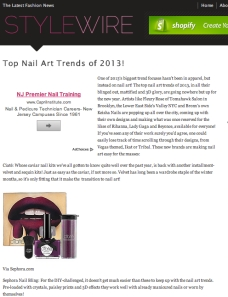 Nail Art Trends of 2013